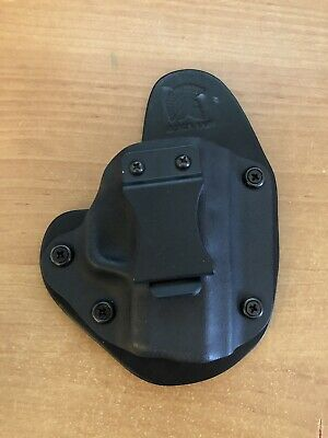 "Springfield XDs 3.3"" 45/9mm IWB Hybrid Holster, Black Kydex, leather, 1.5"""