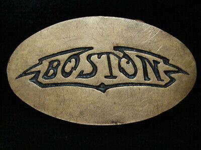 PF09168 VINTAGE 1970s **BOSTON** MUSIC COMMEMORATIVE SOLID BRASS BARON BUCKLE
