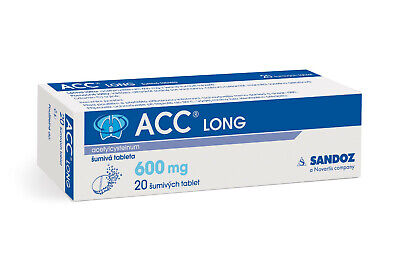 ACC LONG 600 mg 20 dissolving tablets cough bronchitis Strong fast treatment NEW