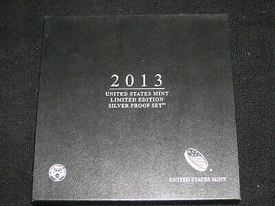 2013 United States Mint Limited Edition Silver Proof Set Eagle Kennedy Quarters
