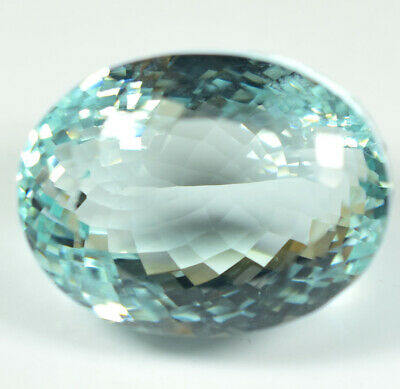 163.20 Ct NATURAL Blueish Green AQUAMARINE Loose Oval GEMSTONE GIE Certified