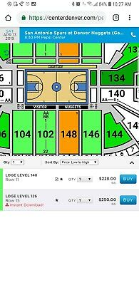 Nuggets Playoff Ticket game 1