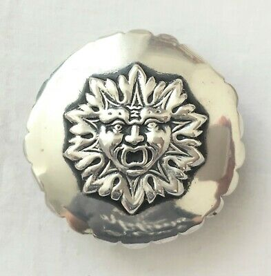 Wonderful quality WILLIAM COMYNS hallmarked silver lid/cover with Green Man mask