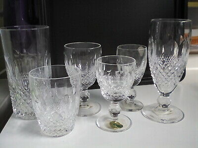 Waterford crystal glasses,Colleen,unused,; 5oz tumbler,white wine,port,sherry,