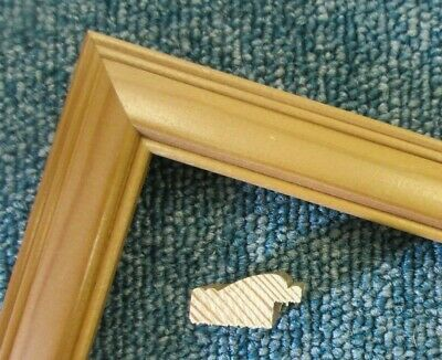 4 x 1 m lengths (4m) - Small 23mm Antique Pine Wood Picture Frame Moulding