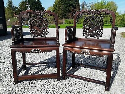 Pair Antique Chinese Chairs