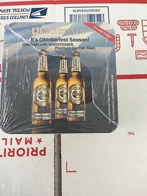 New Unopened Sleeve Of Warsteiner Oktoberfest BEER COASTERS Oktoberfest Season