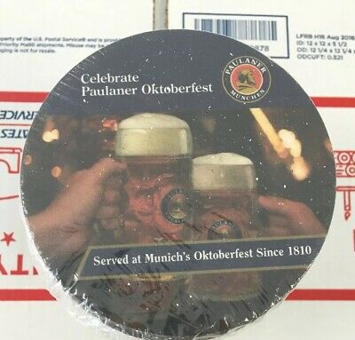 New Unopened Sleeve Of Paulaner Oktoberfest BEER COASTERS