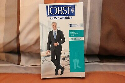 Jobst For Men Ambition, Knee High, Compression Sock, Khaki, 20-30 mmHg, Size 5