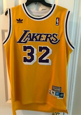 5457be247c5 Adidas Magic Johnson  32 LA Lakers NBA Hardwood Classics Stitched Jersey  Medium