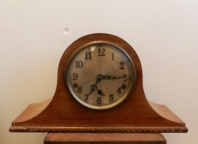 Vintage / Antique German Mantel Clock Westminster Chime Napoleon Hat