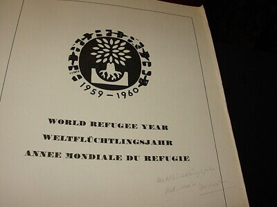 Mint World Refugee Year Collection In Binder - 1959-1960!