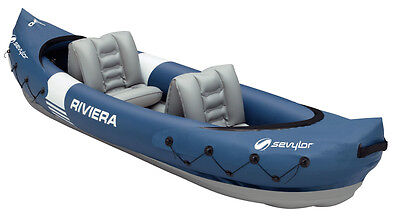 Sevylor Riviera,  2 Man Inflatable Kayak / Canadian Canoe with Paddle