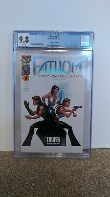 Fathom 12 CGC 9.8 Tower Records Variant White Pages Holofoil Logo