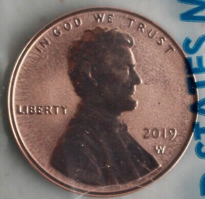 2019 W REVERSE PROOF Lincoln Shield One Cent Coin West Point Mint Package + COA