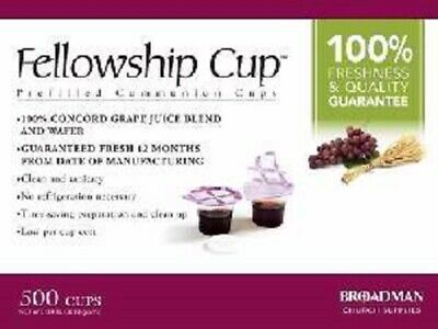 Fellowship Cup 500 Prefilled Communion Cups With Juice and Wafer Accessories