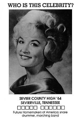 DOLLY PARTON: Sevier County H.S. yearbook photo (Tennessee, 1964) Postcard - NEW