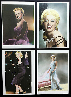Marilyn Monroe - Set of Four hand-tinted photographs (4¼ x 6 in. Postcards) NEW