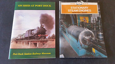 2 x stationary steam engines and port dock railway museum  books