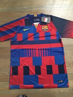 a5297ec41c8 Nike FC Barcelona Limited Ed 20th Anniversary 'Mash Up' Kit Shirt Jersey  Mens L