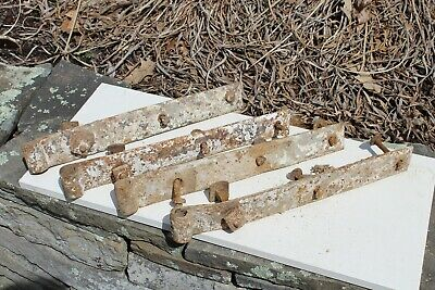 4 Large Antique Collectible Iron Barn or Gate Hinges Tool Primitive 16 inch old