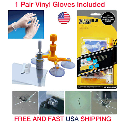 DIY Car Auto Wind Glass Windscreen Windshield Repair Tool Kit For Chip Crack