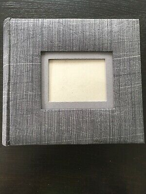 Photo Album 200 Pockets 6x4 Slip-In With Memory Notes CD Holder Grey Fabric