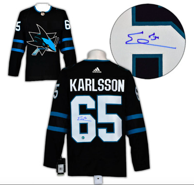 b518298de Erik Karlsson San Jose Sharks Autographed Adidas Authentic Pro Hockey Jersey  COA