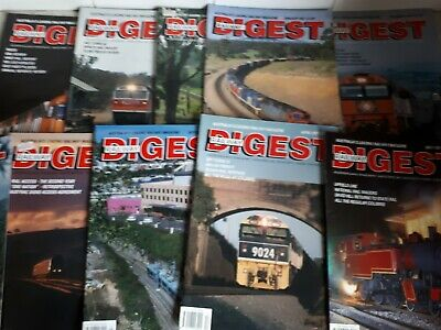 railway digest x9 assorted old magazines