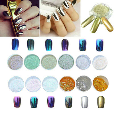 12 Colours Glitter Dust Powder Set for Nail Art Tips DIY Decoration Crafts USA
