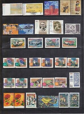 1997-99 Australian-152 used stamps including High Value and Sheet