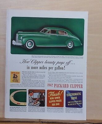 Advertising Vintage 1941 Magazine Ad For Packard Handsomest Thing That Runs On Rubber Collectibles