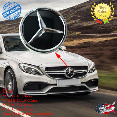 Mercedes W205 Chrome Front Grill Star Emblem Crystal Glass Style for Distronic