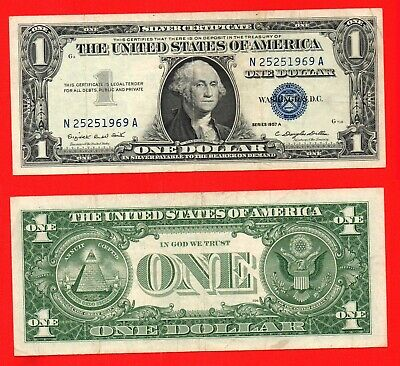 United States 1957A silver certificate 1 dollar banknote