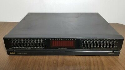 RCA MGE260 10 Band Graphic Stereo Equalizer With Spectrum Analyzer