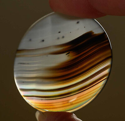 AGATE CABOCHON - 41.5CTS Agate Necklace, Rainbow Cabochon, Agate Jewelry 37858