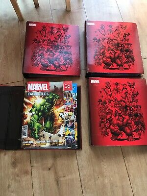 Marvel Fact Files 4 Binders With Magazines