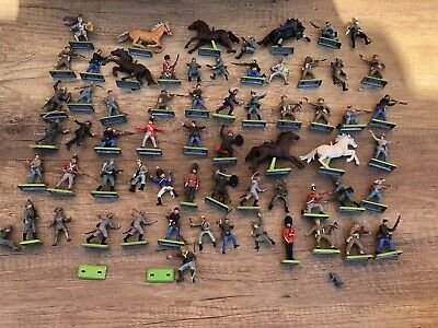 Britains Deetail Large Collection Of Rare Soldiers/ Indians Horse-riders Knights