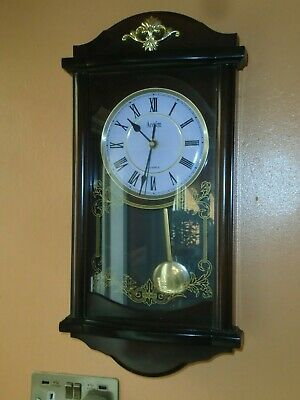 Vintage Acctim  Wood Effect Wall Clock, With Pendulum & Westminster Chimes