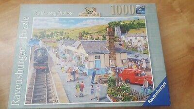 """Ravensburger """" The Country Station"""" 1000 Pieced Jigsaw Puzzle 