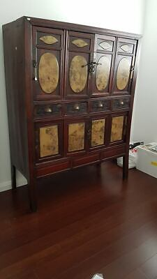 Antique - Dark Timber Chinese Armoire