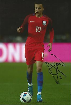 Hand Signed 8x12 photo DELE ALLI Tottenham Hotspur ENGLAND Football Spurs + COA