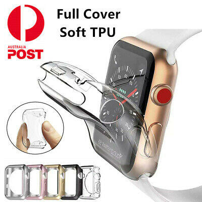 For Apple Watch Series 4 3 2 1 38/42mm 40/44mm iWatch Soft TPU Full Cover Case