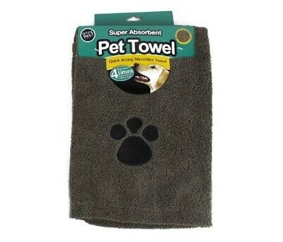 World of Pets Super Absorbent and Quick Dry Microfibre Pet Towel 100X60 Brown