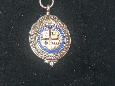 silver and enamel fob watch medal on it div 1 winners 1930.1