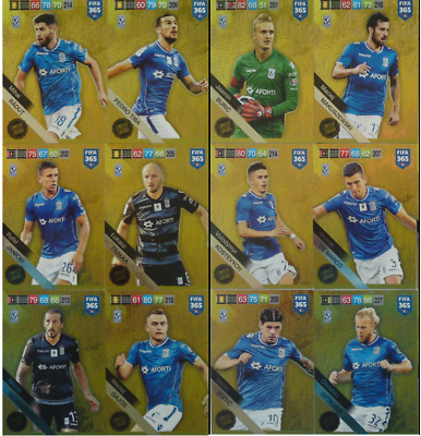 Set 12 cards FIFA Adrenalyn 365 - 2019 - LECH POZNAŃ Limited Edition