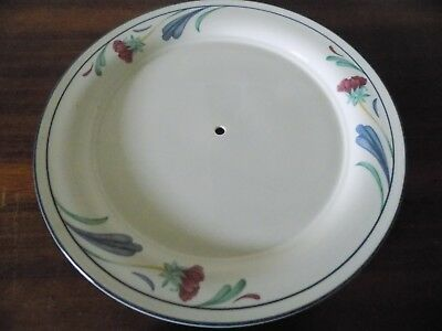 "Lenox Chinastone Poppies On Blue Large 10 3/4"" Tidbit Serving Tray Plate Only"