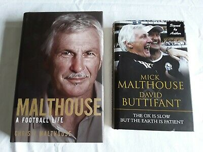 2 MICK MALTHOUSE BOOKS Bulk Lot (one is signed)