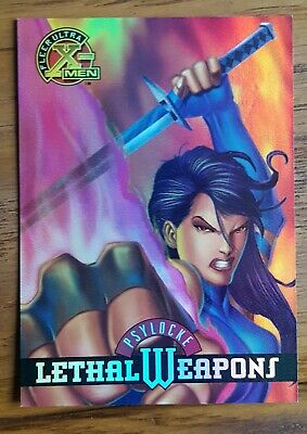 Fleer Ultra X Men Lethal Weapons Teading Card 1995 Rare