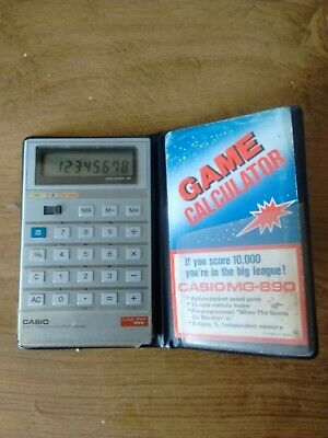 Casio Mg-890 Musical Calculator With Case
